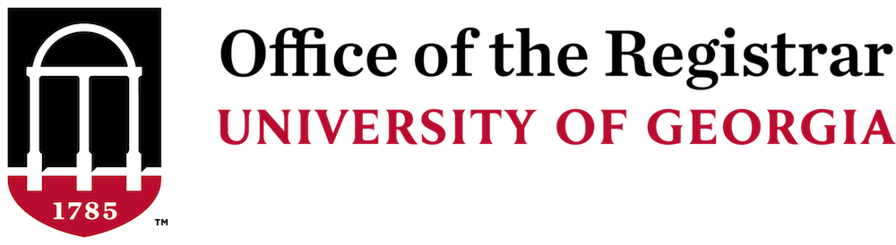 Office of the Registrar at the University of Georgia Logo